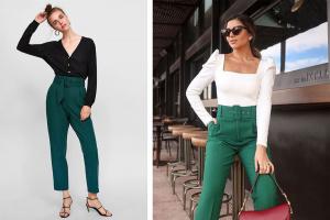 Зеленые брюки:13 модных образов, которые актуальны в 2020 году