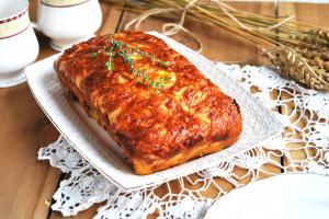 Мясной хлеб с сырной корочкой