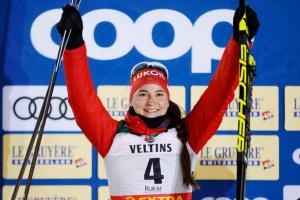 Ступак (Белорукова) из Сосногорска завоевала «серебро» на этапе Кубка мира по лыжным гонкам в Швейцарии
