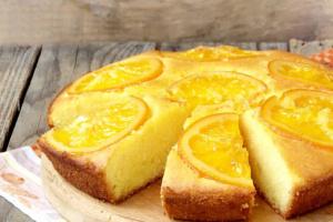 Апельсиновый пирог к чаю